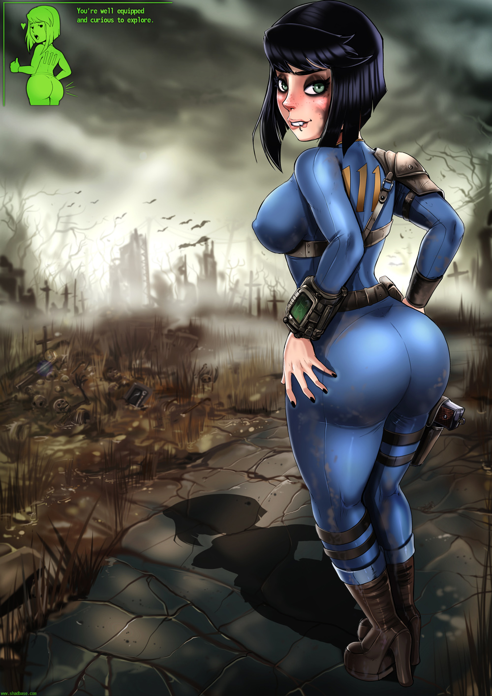 jumpsuit vault fallout 75 4 Highschool of the dead boobs gif