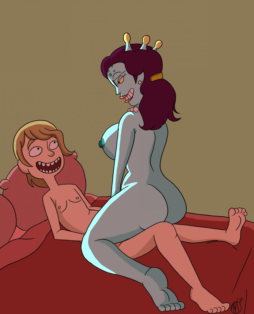 rick summer morty naked and Soul eater blair and soul